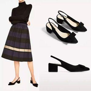 Zara basic black shoes